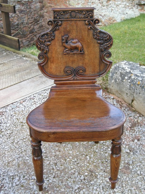 Irish Oak Hall Chair 1810