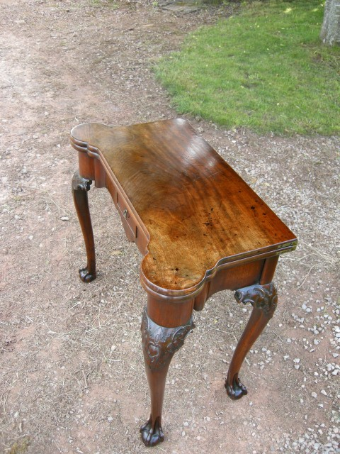 George II Mahogany Card Table