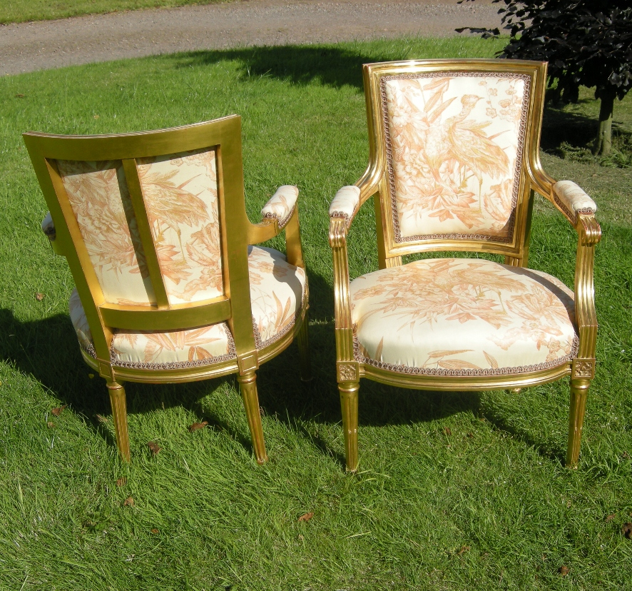 18th Century Parcel Gilt Occasional Chairs