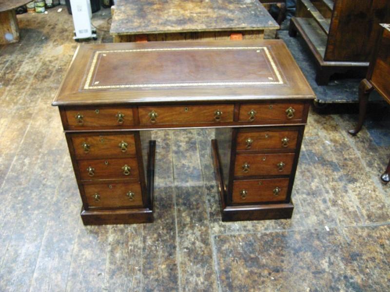 Edwardian pedestal writing desk